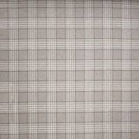 Lowick Plaid Fabric - Silver