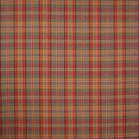 Hutton Plaid Fabric - Red / Sand