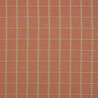 Fen Plaid Fabric - Tomato