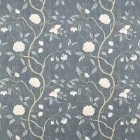Snow Tree Fabric - Blue
