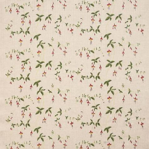 Colefax & Fowler  Leonora Fabrics Viviers Fabric - Red / Green - F4653-01