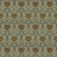 Ottoman Fabric - Blue Walnut