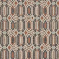 Geo Fabric - Smoked Coral