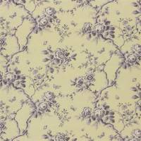 Ashfield Floral Voile Fabric - Vintage Purple