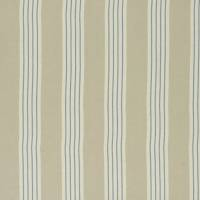 Round Swamp Stripe Fabric - Linen Blue