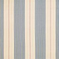 Gin Beach Ticking Fabric - Red/Blue