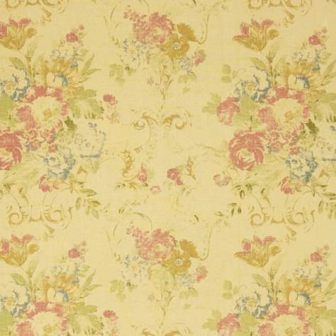 Ralph Lauren Signature Country and Coast Fabrics Brianna Floral Fabric - Tea - FRL050/02