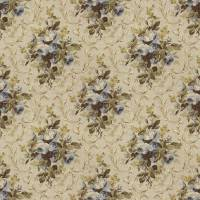 Cottage Rose Floral Fabric - Prairie Blue
