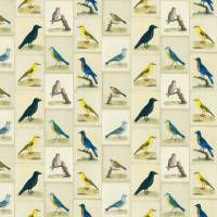 Bird Collage Fabric - Parchment