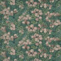 Rose Mosaic Fabric - Forest