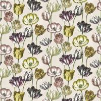 Variegated Tulips Fabric - Buttermilk