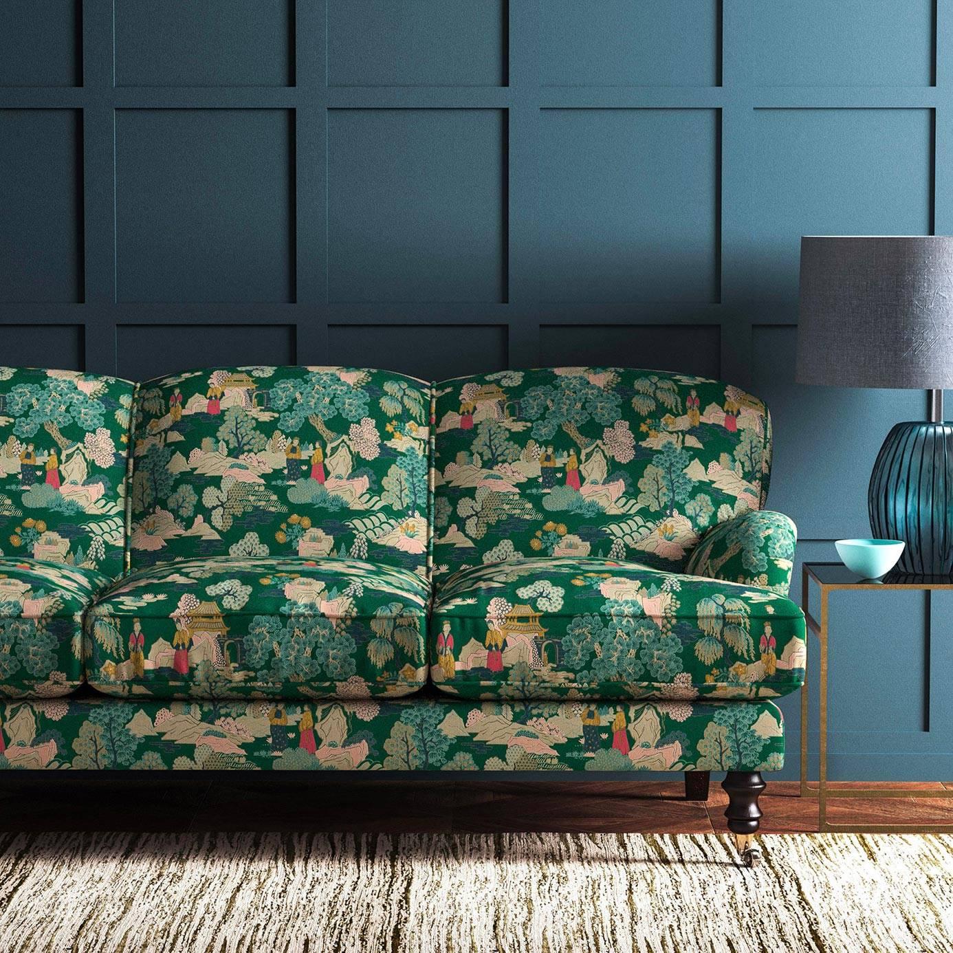 Japanese Garden Fabric Jade Lf2092fr 002 Linwood