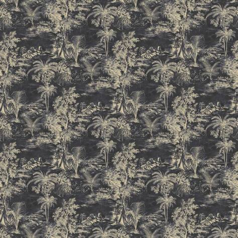 Linwood Fabrics Omega Prints Velvet Heat of the Night Fabric - Slate - LF2098FR/002