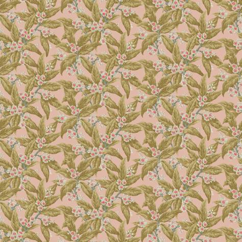Linwood Fabrics Omega Prints Velvet Loseley Velvet Fabric - Peach - LF2099FR/001