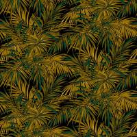 Butterfly Palm Fabric - Maize