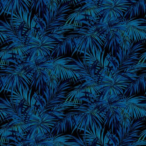 Linwood Fabrics Omega Prints Velvet Butterfly Palm Fabric - Electric - LF2102FR/003