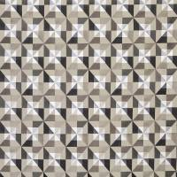 Bussana Fabric - Black / Taupe / Pewter