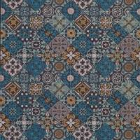 Cervo Fabric - Indigo / Turquoise / Copper