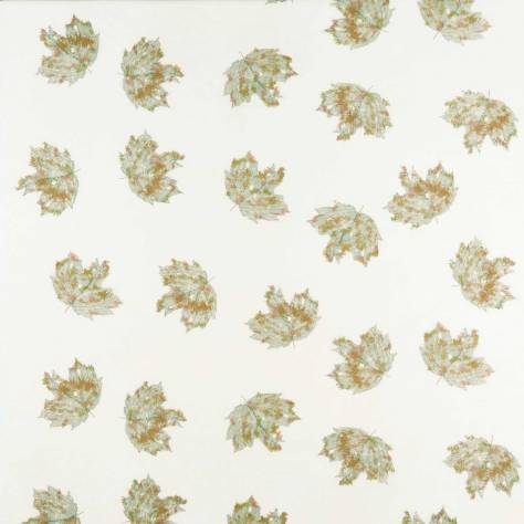Osborne & Little Sketchbook Fabrics Sycamore Sheer Fabric - Duck Egg - F7372-01