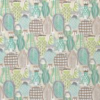Collioure Fabric - Aqua / Green / Lilac