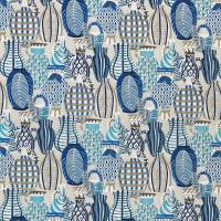 Collioure Fabric - Blue / Beige