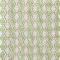 Belle Ile Fabric - Green / Beige