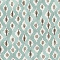 Beau Rivage Fabric - Duck Egg / Taupe