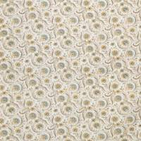Baville Fabric - Taupe / Aqua / Yellow