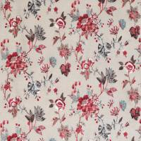 Nemours Fabric - Red / Chocolate / Teal