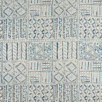 Cloisters Fabric - Indigo / Blue / Ivory
