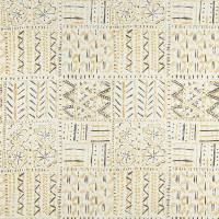 Cloisters Fabric - Ochre / Tobacco / Ivory