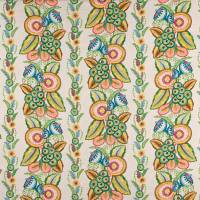 Ashdown Stripe Fabric - Green / Multi