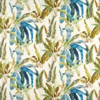 Benmore Fabric - Turquoise / Olive