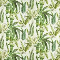 Benmore Fabric - Green / Ivory
