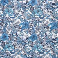 Valldemossa Fabric - Persian Blue / Ivory