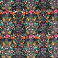 Talavera Fabric - Plum / Rich Mint