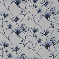 Lotus Fabric - Indigo/Silver