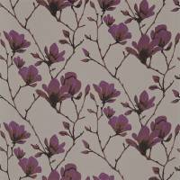 Lotus Fabric - Bronze/Magenta