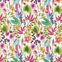 Nalina Fabric - Flamingo/Papaya/Loganberry