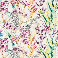 Paradise Fabric - Flamingo/Papaya/Apple