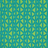 Rumbia Fabric - Lagoon/Gooseberry