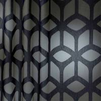 Trellis Fabric - Indigo/Neutral