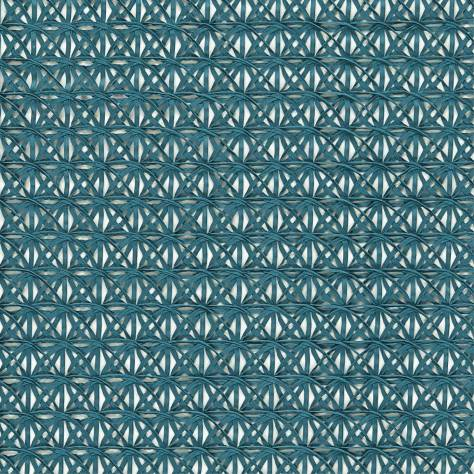 Harlequin Momentum Sheers & Structures Fabrics Ribbon Fabric - Teal - 130591