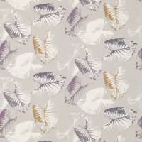 Palmetto Fabric - Eggplant/Graphite