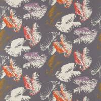 Palmetto Fabric - Amber/Graphite