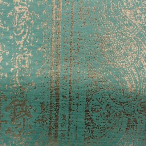 Harlequin Belvedere Velvets Fabrics Oshida Fabric - Emerald/Antique Gold - 131608