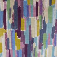 Trattino Fabric - Heather/Grape/Mustard