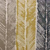 Walchia Fabric - Charcoal/Mocha/Brass