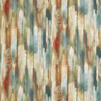 Estrato Fabric - Rust/Ruby/Nordic Blue