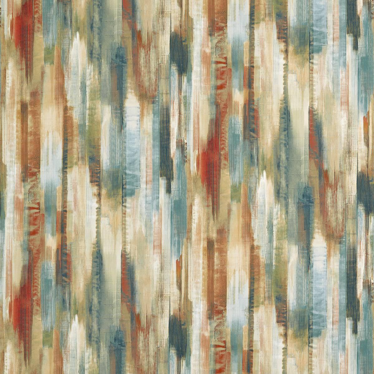Estrato Fabric Rust Ruby Nordic Blue 120583